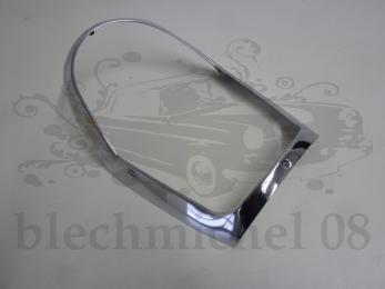 chrome frame headlight rechromed