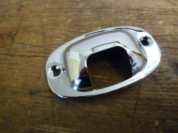 chrome cover licence plate light